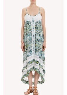 Twelfth Street by Cynthia Vincent Paisley-Print Western High-Low Dress