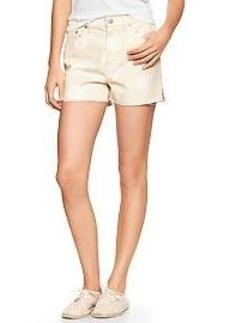 1969 dot raw-edge high-rise denim shorts