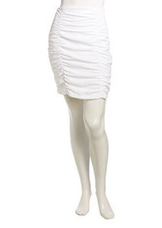 Nanette Lepore Scrunch Pencil Skirt, White