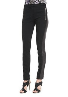 Diane von Furstenberg Leah Leather-Panel Leggings