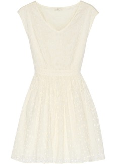 Joie Leilah cotton-eyelet mini dress