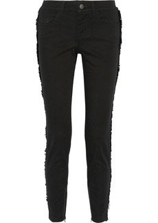 Stella McCartney Fringed mid-rise skinny jeans