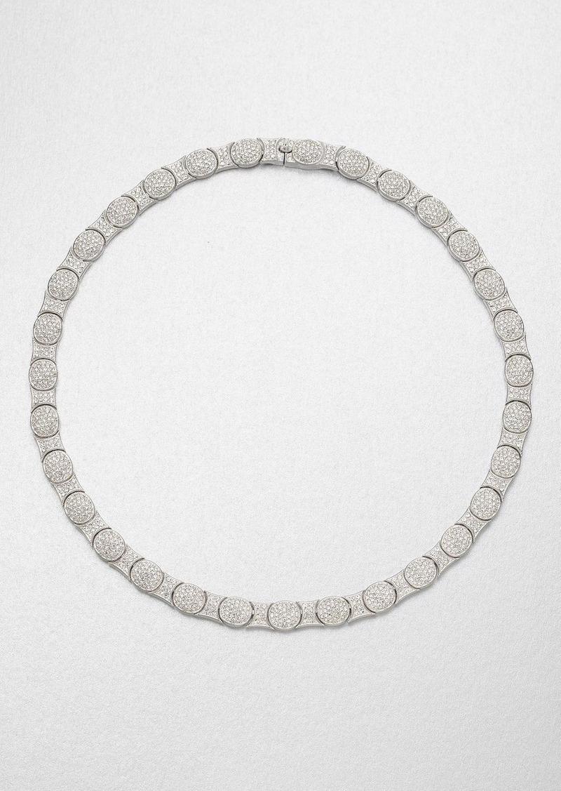 Adriana Orsini Crystal Oval Motif Collar Necklace