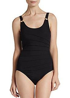 Calvin Klein Swim One-Piece Starburst Swimsuit