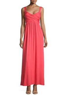 Max Studio Draped Jersey Maxi Dress, Persimmon