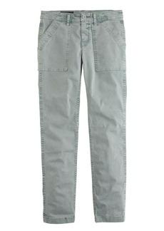 Skinny washed twill utility pant