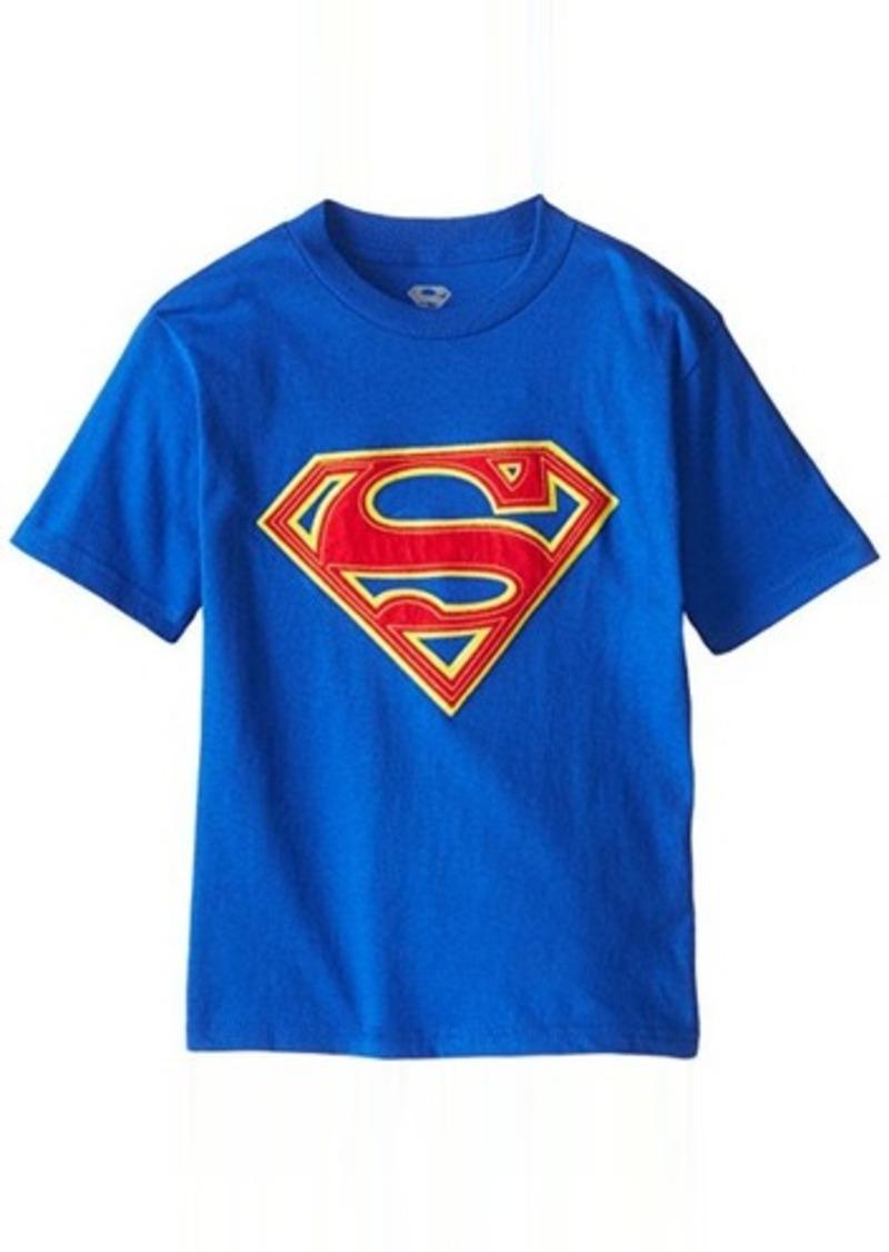 Dc dc comics big boys 39 superman logo applique t shirt for Applique shirts for sale