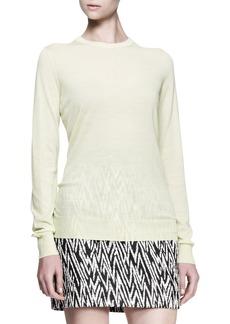 Proenza Schouler Long-Sleeve Crew Sweater