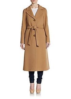 Cinzia Rocca Fleece Wool-Blend Long Coat