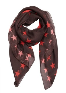 Givenchy red and brown cashmere blend 'Pervert 17' scarf