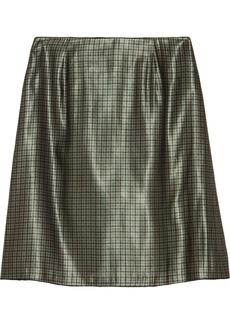 Marc Jacobs Houndstooth silk-blend lamé skirt