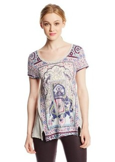 Lucky Brand Women's Elephant Stripe Tee