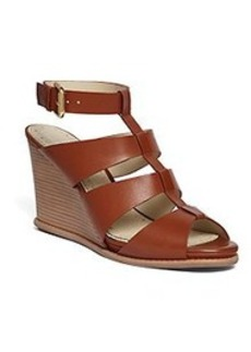 Calf Ankle Strap Wedge