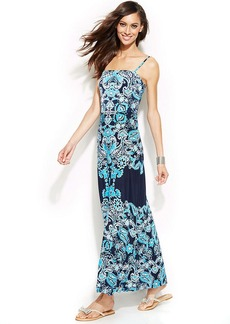 INC International Concepts Petite Printed Bandeau Maxi Dress