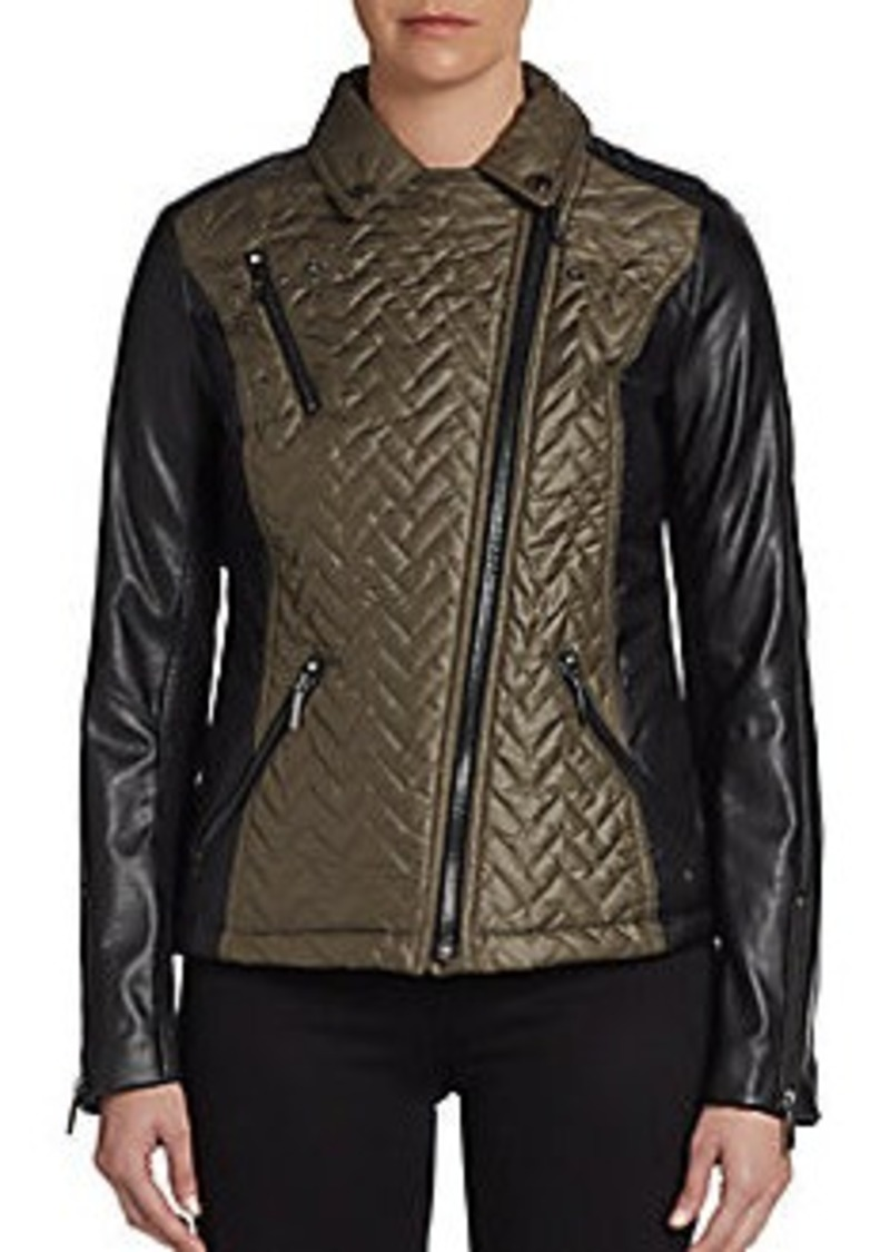 Laundry by Shelli Segal Quilted Moto Jacket
