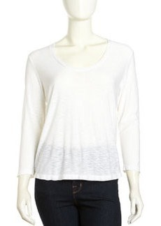 James Perse Soft V-Neck Tee, White