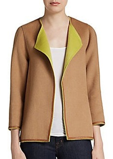 Lafayette 148 New York Venus Leather-Trimmed Jacket