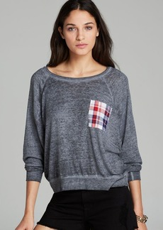JET Tee - Zip Back Plaid Pocket