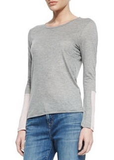 J Brand Jeans Amirah Relaxed Slub Jersey Tee