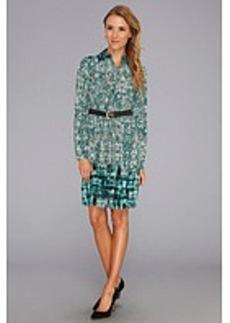 MICHAEL Michael Kors Fitted Shirt Dress w/ Pockets