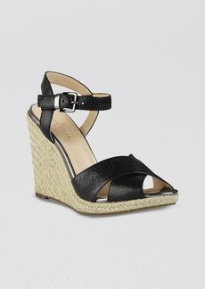 Cole Haan Peep Toe Platform Espadrille Wedge Sandals - Hart