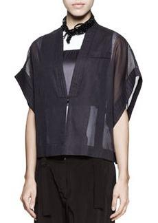 Brunello Cucinelli Cotton-Organza Kimono Jacket