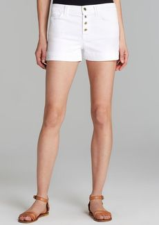 7 For All Mankind Shorts - Biancha High Rise in White