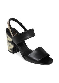 Delman Adria Stacked heel Sandal
