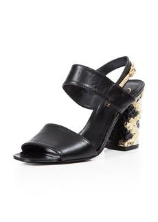 Delman Block Heel Sandals - Adria