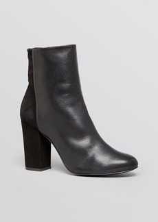 Delman Booties - Nyla High Heel Stretch Suede