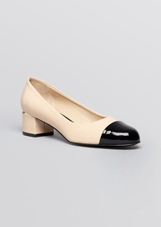 Delman Cap Toe Pumps - Livia