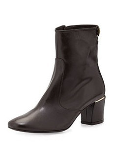 Delman Cryss Mid-Heel Bootie, Dark Brown