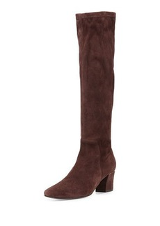 Delman Cyera Stretch-Suede Knee Boot