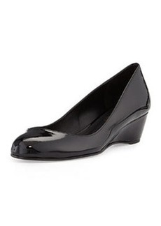 Delman Doll Patent-Leather Wedge, Black