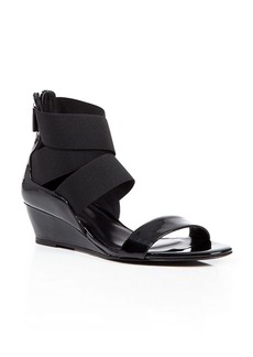 Delman Elasticized Strap Wedge Sandals - Catch