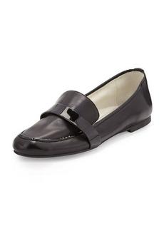 Delman Elda Napa Leather Loafer, Black