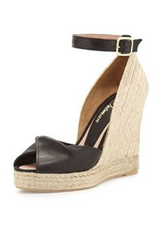Delman Emma Wedge Sandal, Black