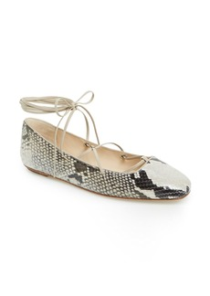 Delman 'Faith' Wraparound Lace Ballet Flat (Women)