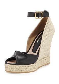 Delman Femme Espadrille Wedge Sandal, Black