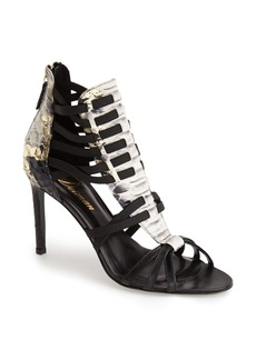 Delman 'Jacey' Snake Embossed Leather Bootie (Women)