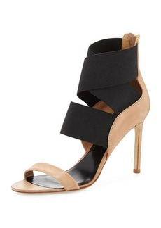 Delman Jean Stretch-Wrap Sandal, Sahara/Black