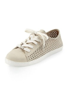 Delman Magie Perforated Nubuck Low-Top Sneaker