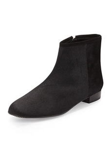 Delman Mason Calf Hair Ankle Bootie, Black