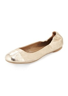 Delman Maya Metallic Ballet Flat