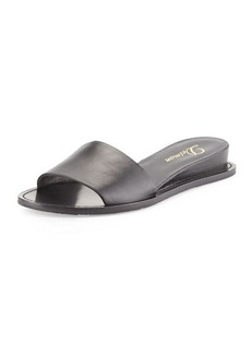 Delman Megan Internal Demi-Wedge Sandal, Black