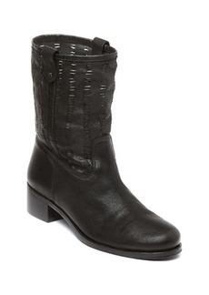 Delman Merci Woven Leather Booties