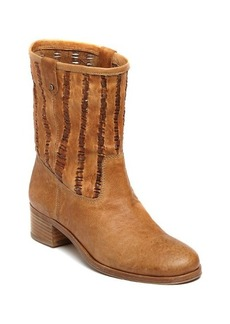 Delman Merci Woven Leather Booties