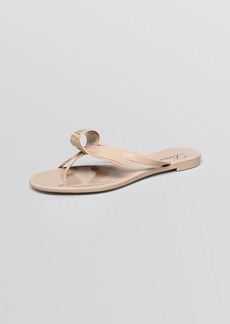 Delman Open Toe Flat Jelly Sandals - Pique