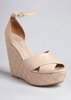 Delman Open Toe Platform Wedge Sandals - Pilar