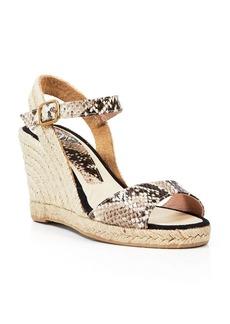 Delman Open Toe Platform Wedge Sandals - Rhonda